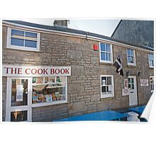 The cook book in St Just Cornwall Poster