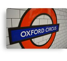 Oxford Circus London Underground Station Canvas Print