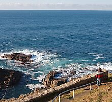 Cape Cornwall look out point by Keith Larby