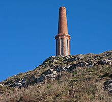 Cape Cornwall  Mine Stack by Keith Larby