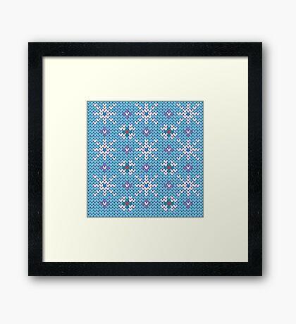 Knitted snowfall Framed Print