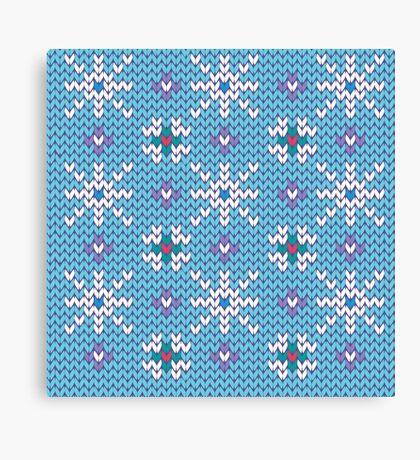 Knitted snowfall Canvas Print