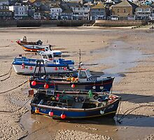 Low tide in St Ives harbour Cornwall by Keith Larby