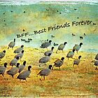 BFF...Best Friends Forever (Greeting Card) by Susan Werby