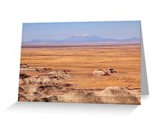High Plains Landscape with Mountain View Greeting Card
