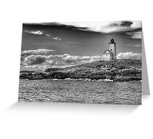 Two Bush Island Light, Maine Greeting Card