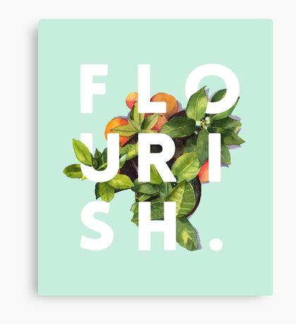 Flourish #redbubble #home #designer #tech #lifestyle #fashion #style Canvas Print