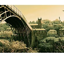Ironbridge Village Tan Photographic Print