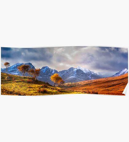 Autumn Snow and Sunlight, Isle of Skye, UK Poster
