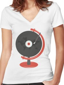 World Record Women's Fitted V-Neck T-Shirt