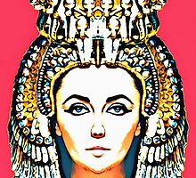 Elizabeth Taylor, alias in Cleopatra by Art Cinema Gallery