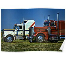Kenworth and Peterbilt Semi Trucks Poster