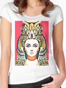 Elizabeth Taylor, alias in Cleopatra Women's Fitted Scoop T-Shirt