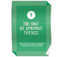 Commandment #4 of graphic design Poster