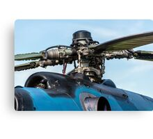Helicopter engine. Canvas Print