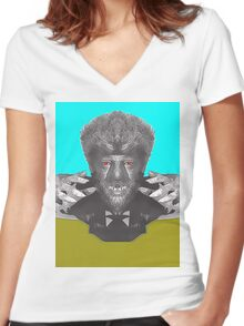 Lon Chaney Jr, alias in The Wolf Man Women's Fitted V-Neck T-Shirt