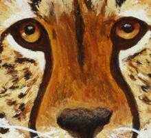 Staring Cheetah Sticker