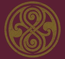 Seal of Rassilon - Classic Doctor Who - Gold (Distressed) by James Ferguson - Darkinc1