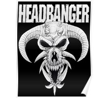 Headbanger Demon Skull Poster