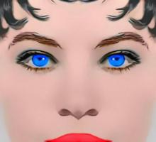 Leslie Caron, alias in The Glass Slipper Sticker