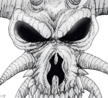 Headbanger Demon Skull Sticker