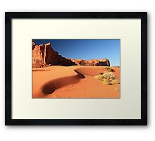 Sand Dune and Sage Brush, Monument Valley Framed Print