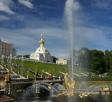 Samson ans Grand Cascade fountain by olegkuzmin