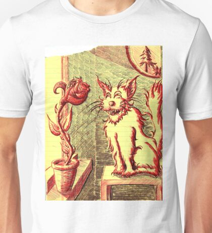 Lusty ~ The Cat and The Rose Unisex T-Shirt