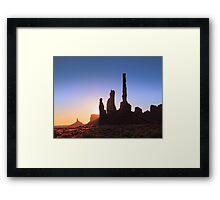 Sunrise in Monument Valley Framed Print