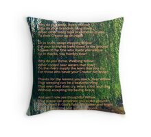 Weeping Willow (Art and Writing) Throw Pillow