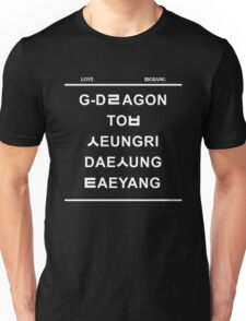 love bigbang black Unisex T-Shirt