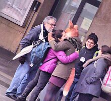 "the fox lady in the station (embrace) by Antonello Incagnone ""incant"""