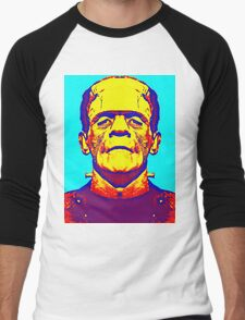 Boris Karloff, alias in The Bride of Frankenstein Men's Baseball ¾ T-Shirt