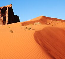 Towering Red Sand Dune, Monument Valley Arizona by Roupen  Baker