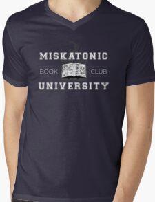 Miskatonic Book Club Mens V-Neck T-Shirt