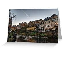 Sunrise Over The Water of Leith at Dean Village, Edinburgh Greeting Card