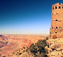 Desert View Watch Tower, Grand Canyon National Park by Roupen  Baker