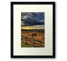 Sunset over the Peak District Framed Print