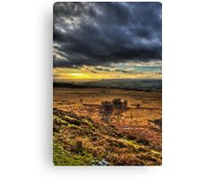 Sunset over the Peak District Canvas Print