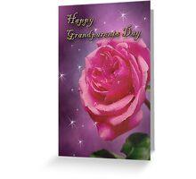 Grandparents Day Rose Greeting Card