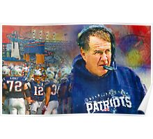 Legend Bill Belichick New England Patriots Poster