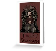 Throne Swanson Greeting Card