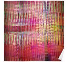Dancing crisscross patterns, abstract fractal art Poster