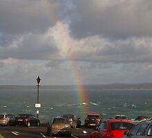 A rainbow over St Ives in Cornwall by Keith Larby