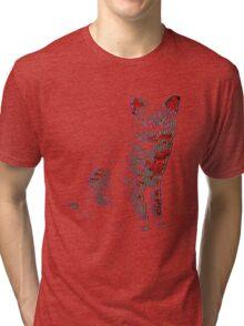 Psychedelic Feline Tri-blend T-Shirt