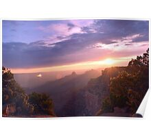 Sunset over the Grand Canyon Poster