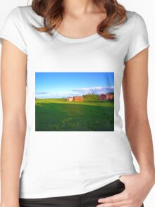Countryside, Kuopio, Finland Women's Fitted Scoop T-Shirt