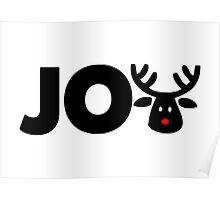 Joy Rudolph Reindeer Poster