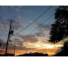 Powerline Sunset Photographic Print