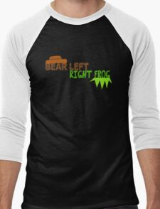 Bear Left Right Frog Men's Baseball ¾ T-Shirt